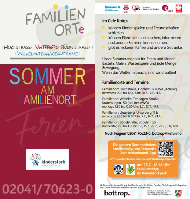 Familienorte Sommerprogramm